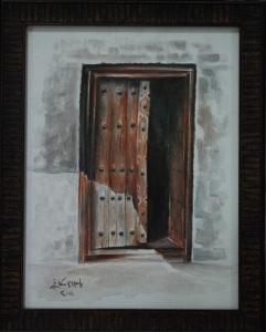 Door in Bahrain J. Aliskafi, Jidhafs