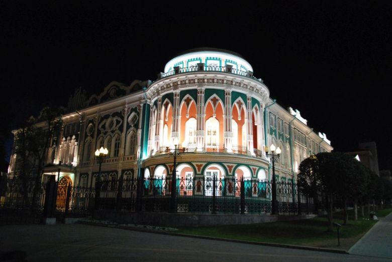 Swastjanow-Haus bei Nacht