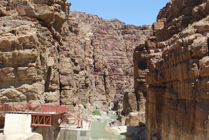 Mündung des Wadi Mujib