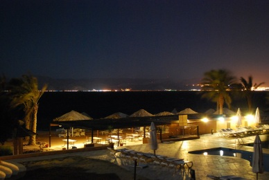 Resort am Roten Meer bei Nacht