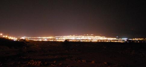 Blick auf die Ausläufer von Aqaba, Eilat in Israel