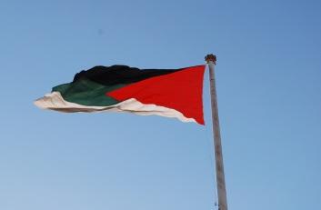 Flagge der arab. Revolution, nicht die jordanische Flagge