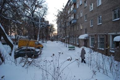 Typische Wohnhäuser in Russland