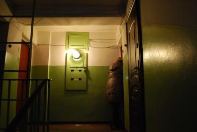Dunkle z.T. überlriechende Hausflure und Treppenhäuser - typisch für Russland