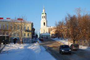Eine der Kirchen in Kirov