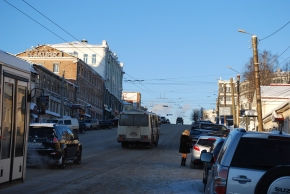 Hauptstrasse in Kirov