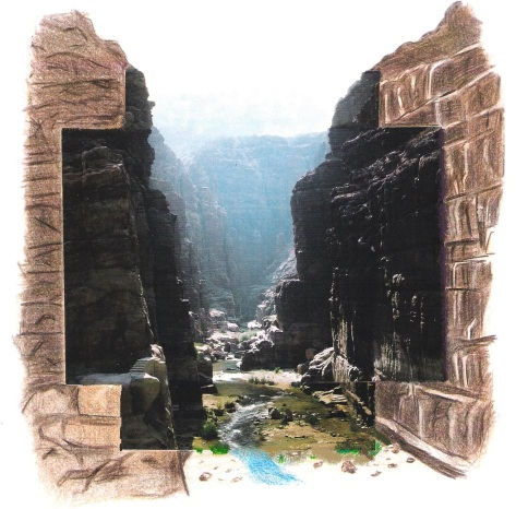 Wadi Mujib als Art Collage (1999/2000)