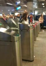 Rush-Hour in der Metro