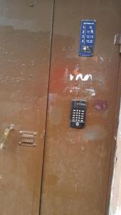 Typische Haustür in Russland
